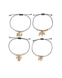 Forever 21 - Metallic Ornate Elephant Bracelet Set - Lyst