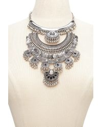 Forever 21 - Metallic Etched Plate Statement Necklace - Lyst