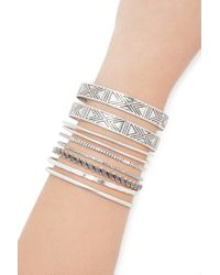 Forever 21 - Metallic Etched Bangle Set - Lyst
