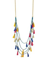 Forever 21 - Multicolor Tassel Charm Layered Necklace - Lyst