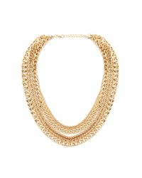 Forever 21 | Metallic Flat Chain Layered Necklace | Lyst