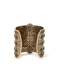 Forever 21 - Green Faux Stone Etched Cuff - Lyst