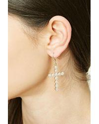 Forever 21 | Metallic Rhinestone Cross Earrings | Lyst