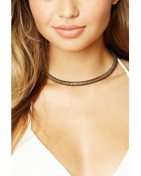 Forever 21   Metallic Mesh Collar Necklace   Lyst