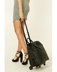 Forever 21 | Black Rolling Duffle Bag | Lyst