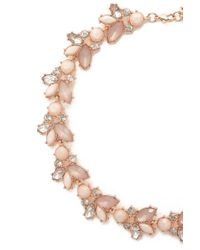 Forever 21 - Multicolor Faux Gem Floral Necklace - Lyst