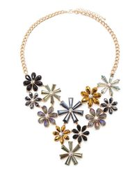 Forever 21 - Metallic Flower Statement Necklace - Lyst