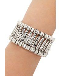 Forever 21 - Metallic Etched Floral Bracelet - Lyst