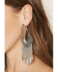 Forever 21 | Metallic Chained Chandelier Earrings | Lyst