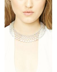 Forever 21 | Metallic Rhinestone Collar Necklace | Lyst
