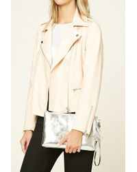 Forever 21 | Metallic Tasseled Faux Leather Clutch | Lyst
