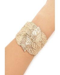Forever 21 | Metallic Ornate Leaf Cuff Bracelet | Lyst