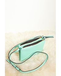 Forever 21 - Green Faux Leather Crossbody - Lyst