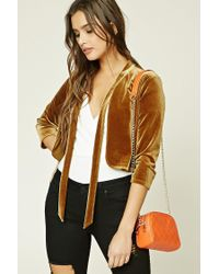 Forever 21 | Orange Faux Leather Quilted Crossbody | Lyst