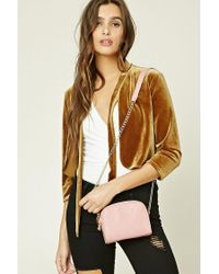 Forever 21 | Pink Faux Leather Quilted Crossbody | Lyst