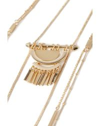 Forever 21 | Metallic Beaded Pendant Necklace | Lyst