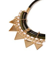 Forever 21 | Green Geo Charm Statement Necklace | Lyst