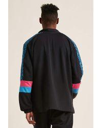 Forever 21 Black Umbro Logo Colorblock Track Jacket for men