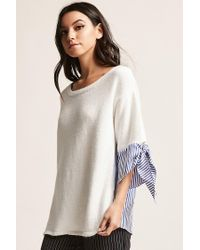 Forever 21 - White Stripe Combo Top - Lyst