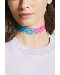 Forever 21 - Multicolor Rainbow Tattoo Choker - Lyst