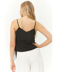 Forever 21 - Black Cami Wrap Top - Lyst