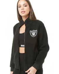 save off c277f 6604f Women's Black Faux Shearling Raiders Jacket