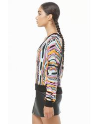 Forever 21 - Black Colorful Sweater-knit Top - Lyst