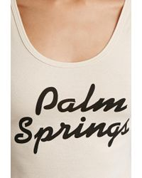 Forever 21 - Natural Palm Springs Cropped Tank - Lyst