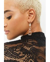 FOREVER21 - Metallic Tiered Faux Gem Earrings - Lyst
