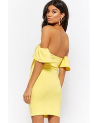 Forever 21 - Yellow Sweetheart Bodycon Dress - Lyst