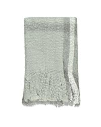 Forever 21 - Gray Fringed Oversized Plaid Scarf - Lyst