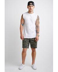 Forever 21 - Black Camo Print Shorts for Men - Lyst