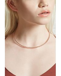 Forever 21 - Metallic Beaded Rhinestone Necklace - Lyst