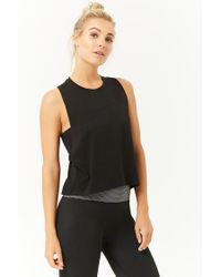 Forever 21 - Black Active Racerback Muscle Tee - Lyst