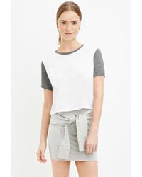 Forever 21 - Gray Heathered Tie-front Skirt - Lyst