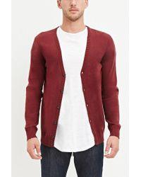 Forever 21 Gray 's Stripe-sleeve Cardigan Sweater for men