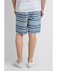 Forever 21 Blue 's Mixed Stripe Shorts for men
