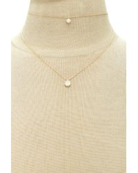 Forever 21 | Metallic Layered Faux Gem Necklace | Lyst