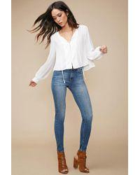 Forever 21 Blue Mid-rise Skinny Jeans , Denim