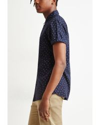 Forever 21 - Blue Polka Dot Shirt for Men - Lyst