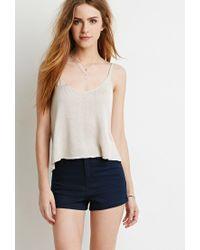 Forever 21 - Blue Clean Wash Denim Shorts - Lyst