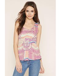 Forever 21 - Multicolor Contemporary Abstract Top - Lyst