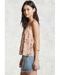 Forever 21 Pink Floral Chiffon Cami