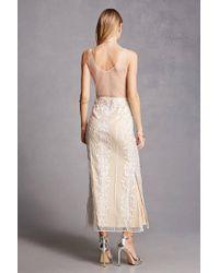 Forever 21 White Soieblu Crochet Maxi Dress