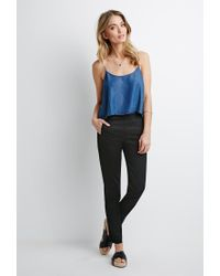 Forever 21 - Black Contemporary Flat-front Chinos - Lyst