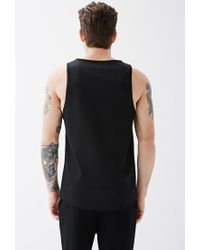 Forever 21 - Black Mesh Jersey Tank for Men - Lyst