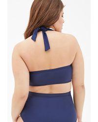 Forever 21 - Blue Plus Size Bandeau Halter Bikini Top - Lyst
