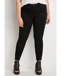 Forever 21 | Black Plus Size Skinny Jeans (short) | Lyst