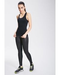Forever 21 - Black Seamless Athletic Tank - Lyst