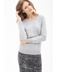 Forever 21 | Gray Contemporary Classic Raglan Sweater | Lyst